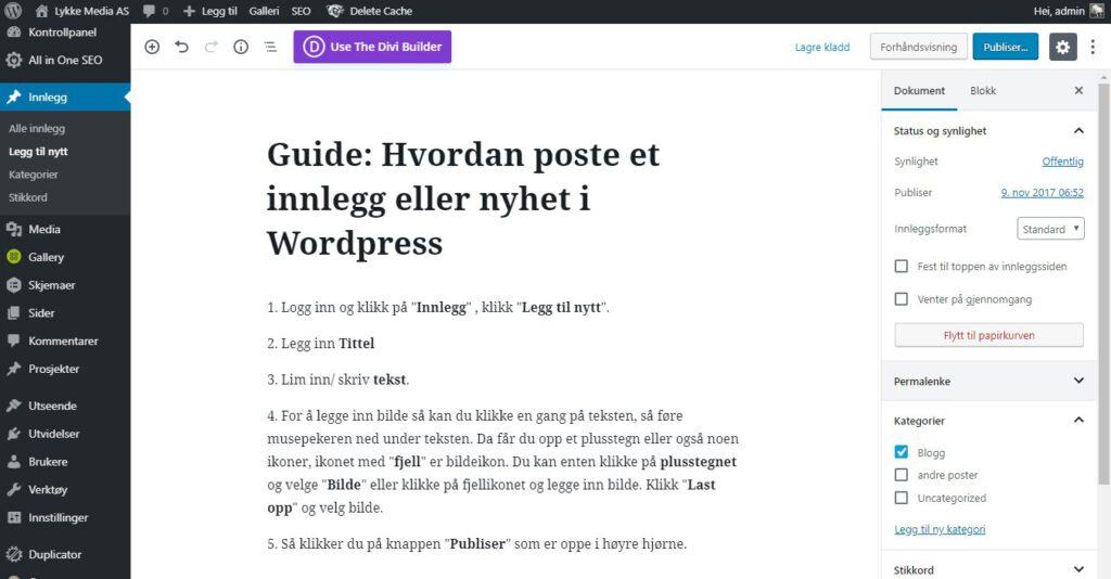 hvordan-poste-nyhet-eller-innlegg-wordpress